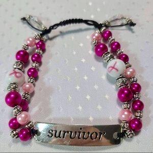 New Breast Cancer Survivor Handcrafted Bracelet